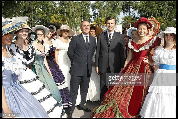 Marc Antoine Jamet , Nicolas Beytout at Jardin D'Acclimatation 150th Anniversary With Les Echos Des Fanfares.