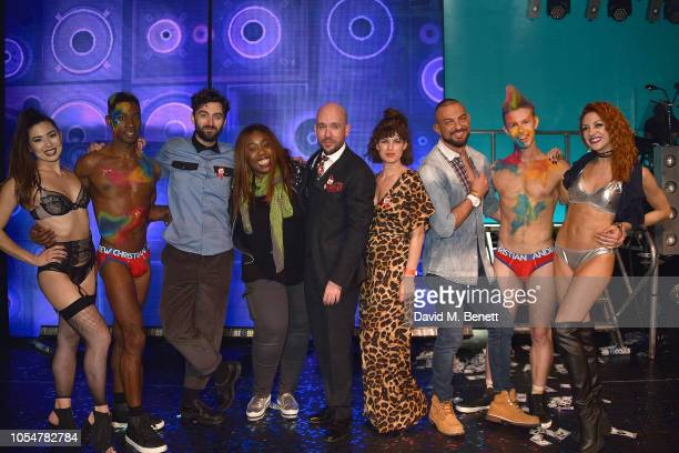 Marc Antolin Chizzy Akudolu Tom Allen Jemima Rooper and Robin Windsor attend 'West End Bares 2018 Top Off The Pops' in support of the Make A...