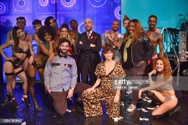 Marc Antolin Tom Allen Jemima Rooper Chizzy Akudolu and Robin Windsor attend 'West End Bares 2018 Top Off The Pops' in support of the Make A...