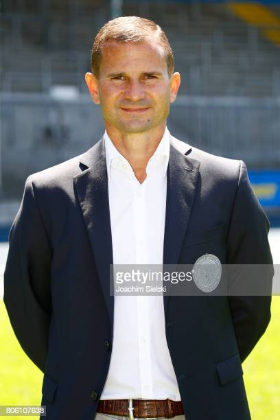 Marc Arnold of Eintracht Braunschweig poses during the official team presentation of Eintracht Braunschweig at Eintracht Stadion on July 3 2017 in...