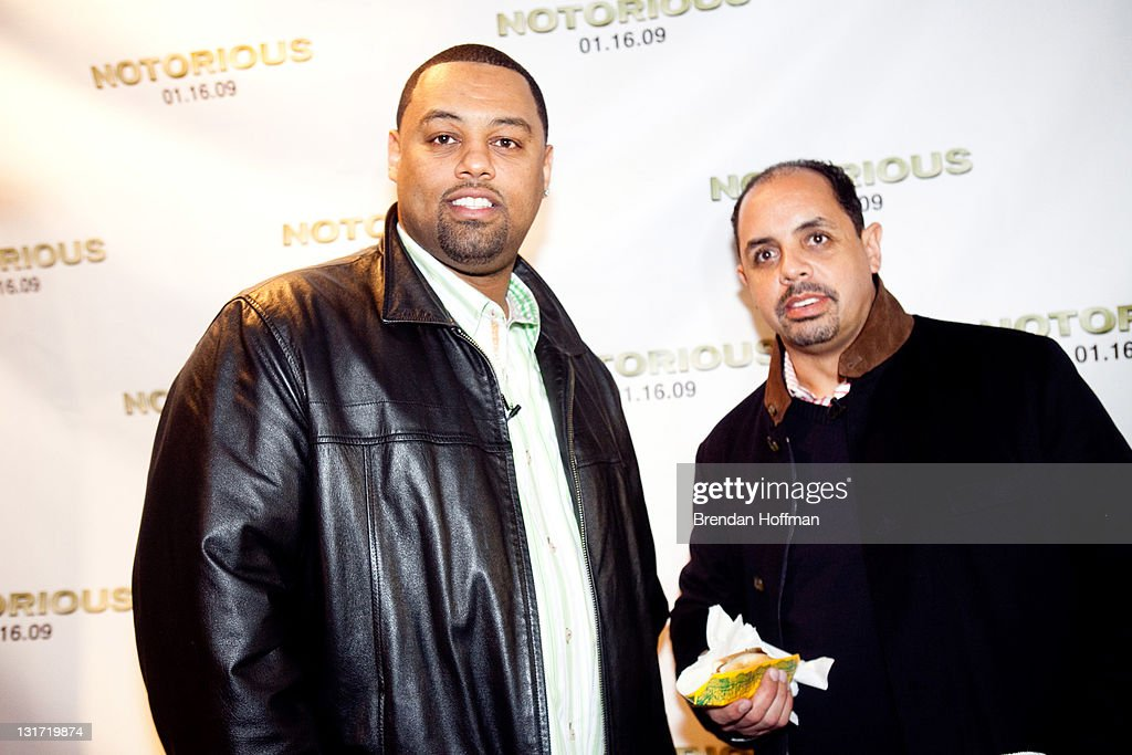 Marc Barnes (R), owner of the Washington nightclub Love, and Love promoter Taz attend a screening of 'Notorious' January 13, 2009 in Washington, DC. The film, to be released January 16, is about the life of hip-hop artist Notorious B