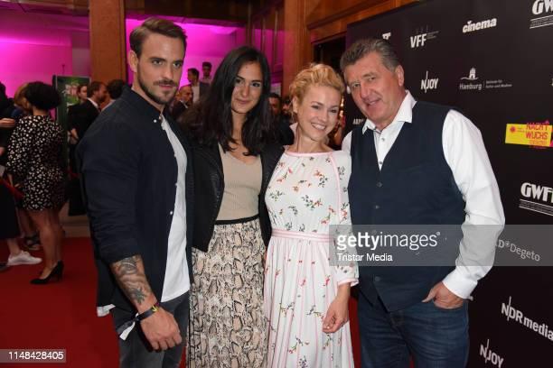 Marc Barthel Aybi Era Rhea Harder and Bruno F Apitz of ZDF TV series 'Soko Hafenkante' attend the Studio Hamburg Nachwuchspreis 2019 at Thalia...