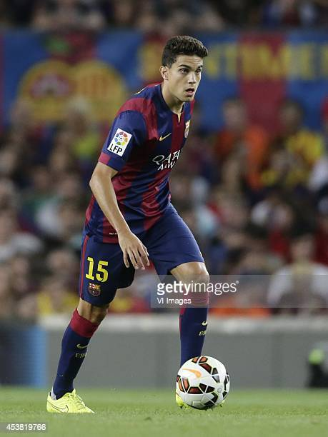 Marc Bartra Aregall of FC Barcelona during the Joan Gamper Trophy match between FC Barcelona and Leon FC at Camp Nou on august 18 2014 in Barcelona...