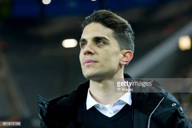 Marc Bartra ex player of Borussia Dortmund says farewell prior the UEFA Europa League Round of 16 match between Borussia Dortmund and FC Red Bull...