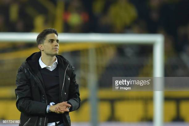 Marc Bartra ex player of Borussia Dortmund says farewell prior to UEFA Europa League Round of 16 match between Borussia Dortmund and FC Red Bull...
