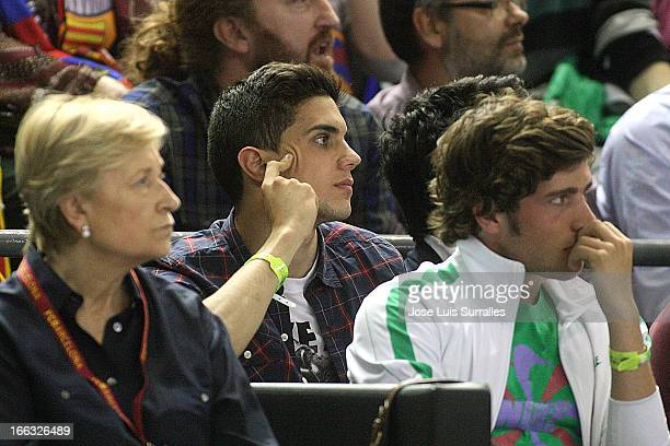 Marc Bartra FC Barcelona football player during the Turkish Airlines Euroleague 20122013 Play Offs game 2 between FC Barcelona Regal v Panathinaikos...