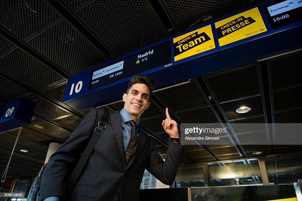 Marc Bartra of Borussia Dortmund depature from Dortmund airport prior to the UEFA Champions League match between Real Madrid and Borussia Dortmund at Estadio Santiago Bernabeu on December 6, 2016 in Madrid, Spain.