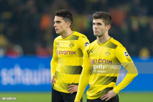 Marc Bartra of Dortmund and Christian Pulisic of Dortmund looks dejected after the Bundesliga match between Borussia Dortmund and FC Schalke 04 at...