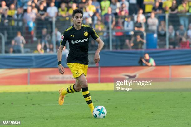 Marc Bartra of Dortmund controls the ball during a friendly match between Espanyol Barcelona and Borussia Dortmund as part of the training camp on...
