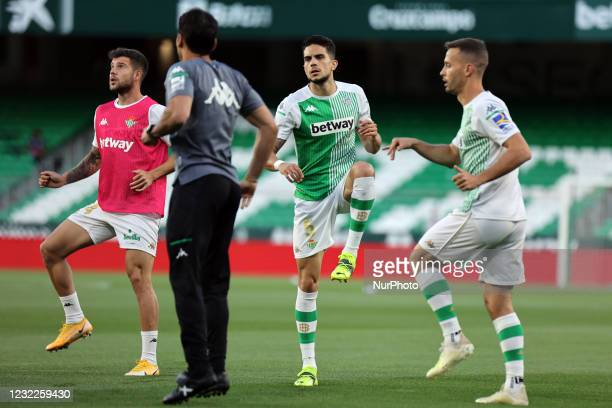 Marc Bartra of Real Betis Balompie during the La Liga Santander match between Real Betis and Atletico de Madrid at Estadio Benito Vilamarin in...