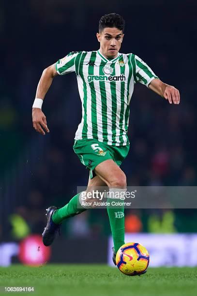 Marc Bartra of Real Betis Balompie in action during the La Liga match between Real Betis Balompie and RC Celta de Vigo at Estadio Benito Villamarin...