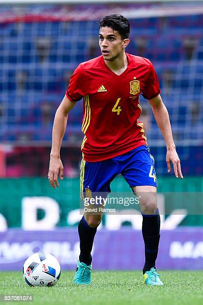 Marc Bartra of Spain runs with the ball during an international friendly match between Spain and Korea at the Red Bull Arena stadium on June 1 2016...