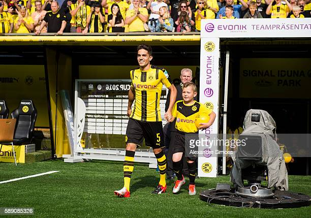 Marc Batra of Borussia Dortmund attends the season opening and public training session on August 13 2016 in Dortmund Germany