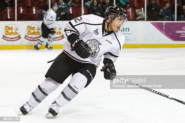Marc Beckstead of the Gatineau Olympiques skates against the Chicoutimi Sagueneens during a game on February 20, 2015 at Robert Guertin Arena in...