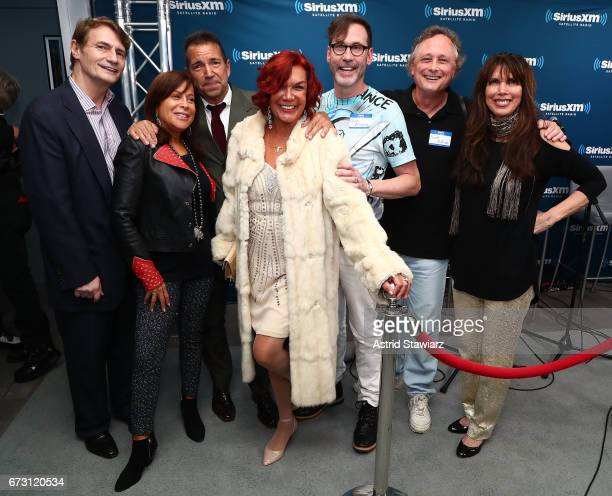 Marc Benecke Joanne Horowitz Richie Notar Carmen DÕAlessio Paolo Miranda Scott Nillson and Myra Scheer pose for photos during a SiriusXM Town Hall...