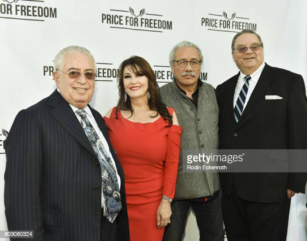 Marc Benhurri Mary Apick Edward James Olmos and Roger Cooper attend screening of 'Price For Freedom' at Laemmle Music Hall on June 28 2017 in Beverly...