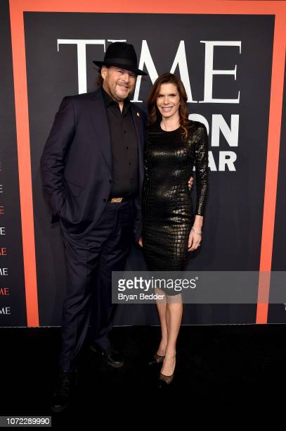 Marc Benioff and Lynne Benioff attend the TIME Person Of The Year Celebration at Capitale on December 12 2018 in New York City