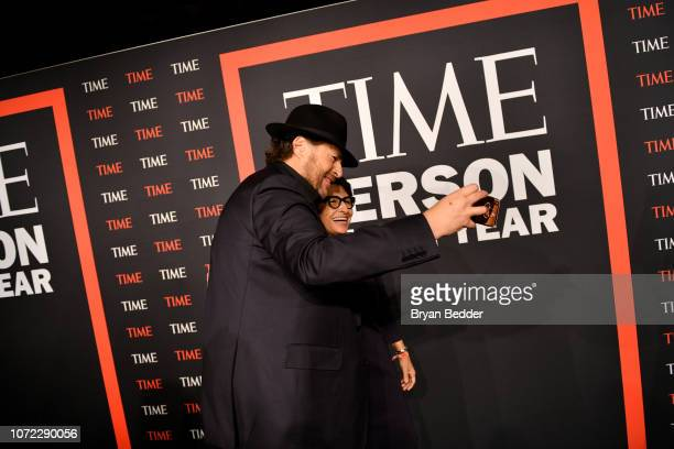 Marc Benioff and Sylvia Acevedo attend the TIME Person Of The Year Celebration at Capitale on December 12 2018 in New York City