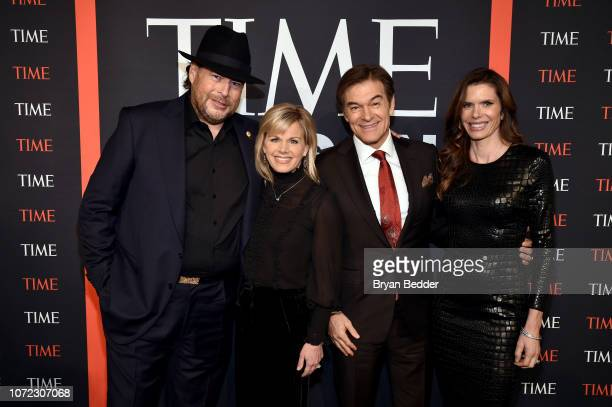 Marc Benioff Gretchen Carlson Mehmet Oz and Lynne Benioff attend the TIME Person Of The Year Celebration at Capitale on December 12 2018 in New York...
