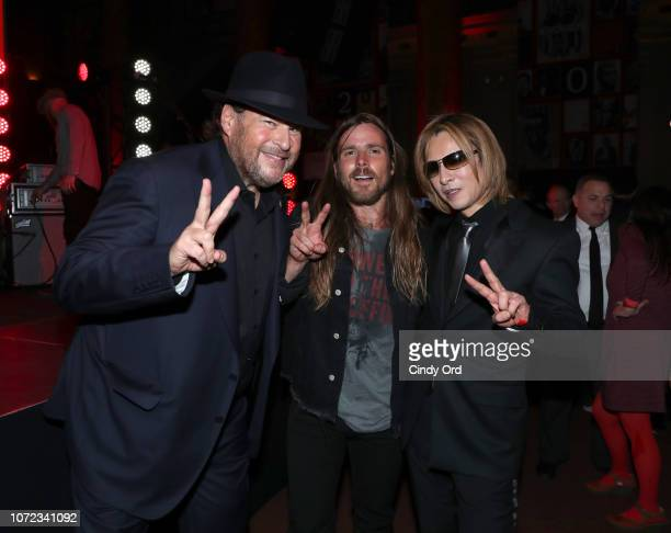 Marc Benioff Lukas Nelson and Yoshiki attend the TIME Person Of The Year Celebration at Capitale on December 12 2018 in New York City