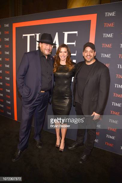 Marc Benioff Lynne Benioff and David Blaine attend the TIME Person Of The Year Celebration at Capitale on December 12 2018 in New York City