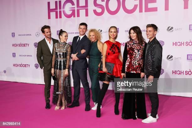 Marc Benjamin Emilia Schuele Jannis Niewoehner Katja Riemann Caro Cult Iris Berben and Jannik Schuemann attend the 'High Society' premiere at...