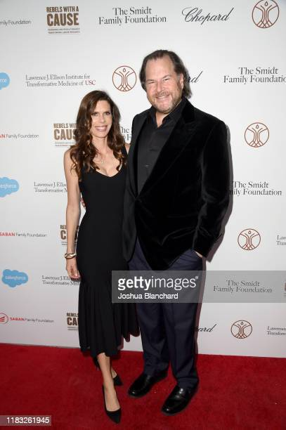 Marc Benoiff and Lynne Benioff attend the Transformative Medicine of USC Rebels with a Cause GALA at on October 24 2019 in Santa Monica California
