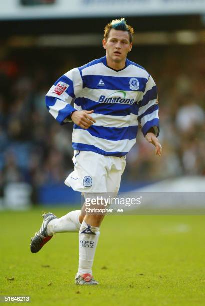 Marc Bircham of Queens Park Rangers in action during the Coca-Cola Championship match between Queens Park Rangers and West Ham United at Loftus Road...