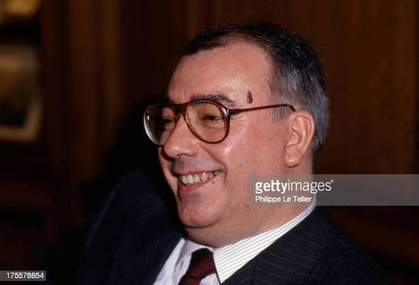 Marc Blondel, General Secretary of FO union France. Marc Blondel secretaire general du syndicat FO , 1990 France.