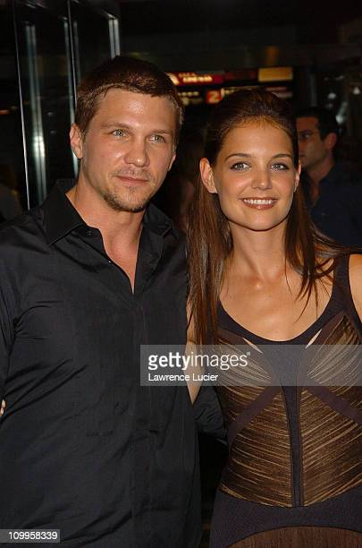 Marc Blucas and Katie Holmes during First Daughter New York Premiere Arrivals at Clearview Chelsea West in New York City New York United States