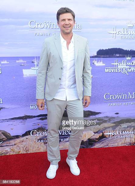 Marc Blucas arrives at the Hallmark Channel and Hallmark Movies and Mysteries Summer 2016 TCA Press Tour Event on July 27 2016 in Beverly Hills...