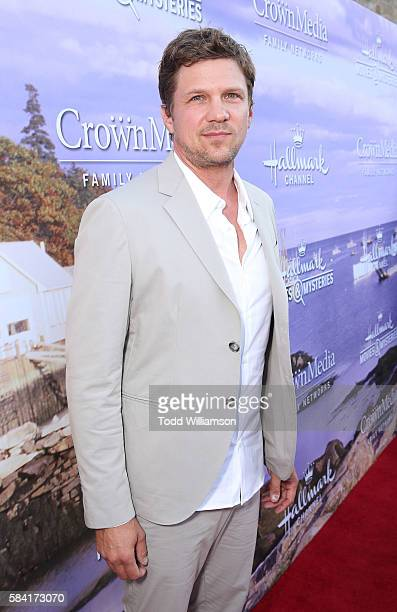 Marc Blucas attends the Hallmark Channel And Hallmark Movies And Mysteries Summer 2016 TCA Press Tour Event on July 27 2016 in Beverly Hills...