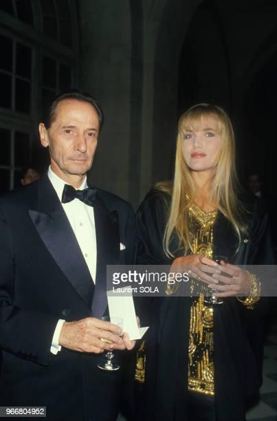 Marc Bohan et Jenna de Rosnay lors de la soirée des Ballets de MonteCarlo à Versailles le 22 mars 1986 France