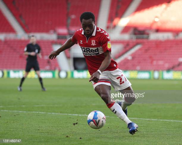 Marc Bola of Middlesbrough during the Sky Bet Championship match between Middlesbrough and Cardiff City at the Riverside Stadium, Middlesbrough on...