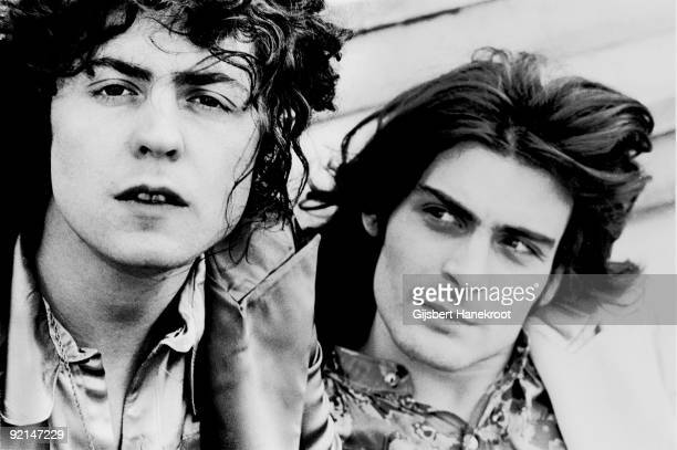 Marc Bolan and Mickey Finn from TRex posed in Amsterdam in 1970