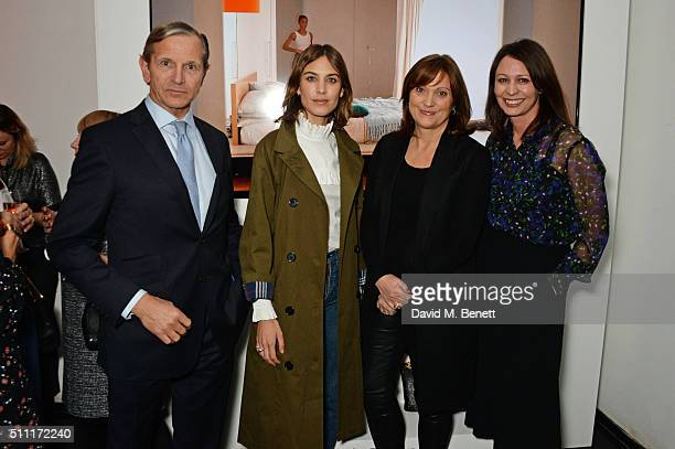 Marc Bolland CEO of Marks and Spencer Alexa Chung Belinda Earl Style Director of Marks and Spencer and Caroline Rush attend a party hosted by Marks...