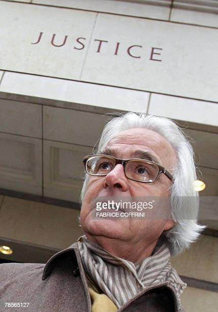 Marc Bonnant lawyer of the Stern family looks before a public hearing 19 December 2007 at the Geneva Law Court of Cecile Brossard who confessed in...