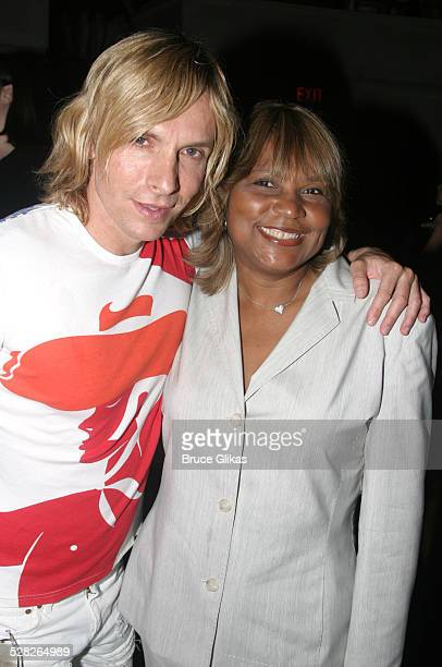 Marc Bouwer and Evelyn Braxton during After Party Celebrating Toni Braxton's Opening Night as Disney's Aida at Laura Belle in New York City, New...