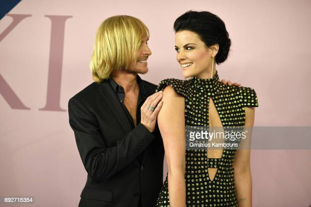 Marc Bouwer and Jaimie Alexander attend the 2017 CFDA Fashion Awards at Hammerstein Ballroom on June 5, 2017 in New York City.