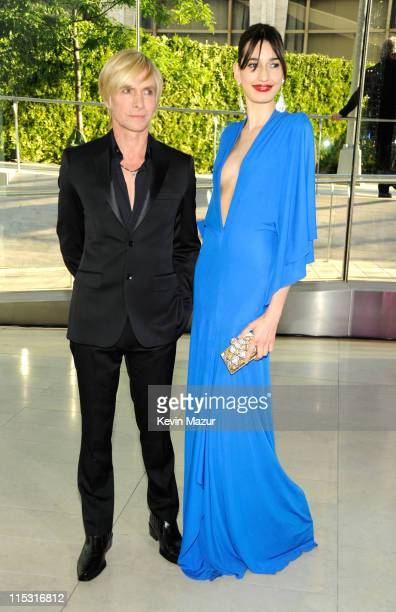 Marc Bouwer and Kenza Fourati attends the 2011 CFDA Fashion Awards at Alice Tully Hall, Lincoln Center on June 6, 2011 in New York City.