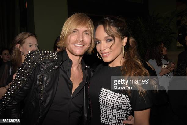 Marc Bouwer and Mayte Garcia attend 'The Most Beautiful My Life With Prince' by Mayte Garcia private book launch party at Soho Grand Hotel on April 5...