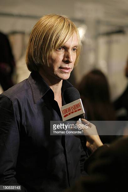 Marc Bouwer, designer during Mercedes-Benz Fashion Week Fall 2007 - Marc Bouwer - Backstage and Front Row at The Salon, Bryant Park in New York City,...