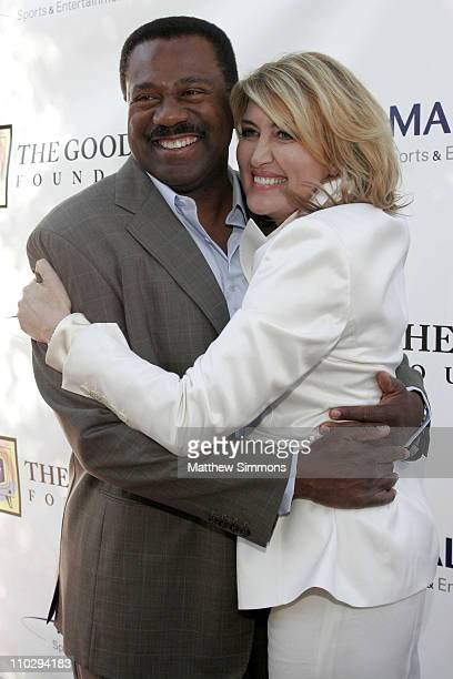 Marc Brown and Wendy Burch during The Good News Foundation's Kick Off Event in Los Angeles California United States