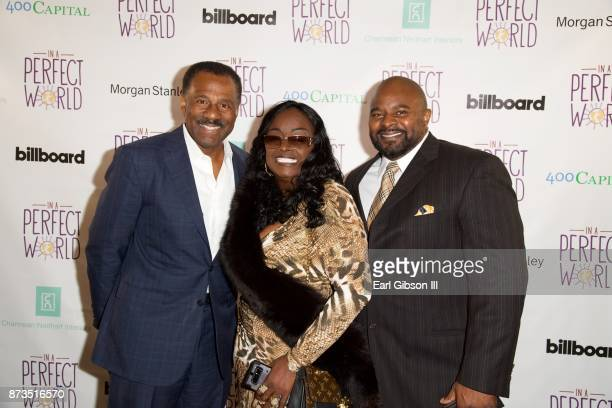 Marc Brown Glodean White and guest attend In A Perfect World Foundation Honors Quincy Jones at Four Seasons Hotel Los Angeles at Beverly Hills on...