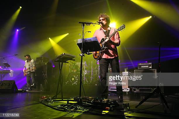 Marc Brownstein and Jon Gutwillig of The Disco Biscuits perform onstage at Best Buy Theater on April 14 2011 in New York City