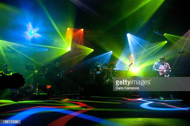 Marc Brownstein and Jon Gutwillig of the Disco Biscuits perform at Best Buy Theater on December 26 2011 in New York City
