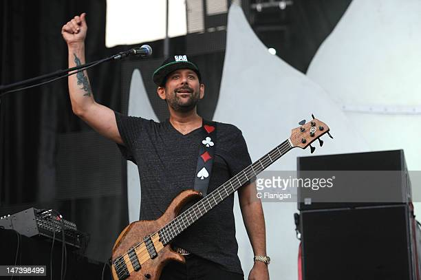 Marc Brownstein of Conspirator performs during the 2012 Electric Forest Festival at Double JJ Ranch on June 28 2012 in Rothbury Michigan