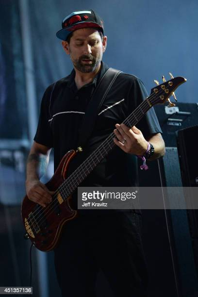 Marc Brownstein of Conspirator performs on Day 2 of the Electric Forest Festival on June 27 2014 in Rothbury Michigan