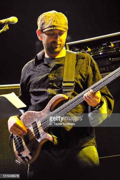 Marc Brownstein of Disco Biscuits performs on the Ranch Arena Stage during the Rothbury Music Festival 08 on July 3 2008 in RothburyMichigan
