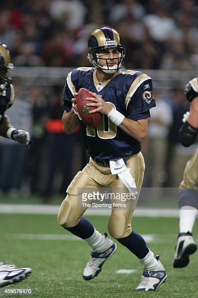 Marc Bulger of the St Louis Rams in action during a game against the Chicago Bears on December 11 2006 at the Edward Jones Dome Stadium in St Louis...